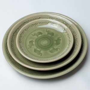 [T2-68] Celadon Plate