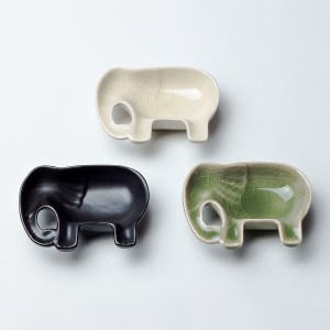[T3-64] ชุดน้ำจิ้มถาดช้าง